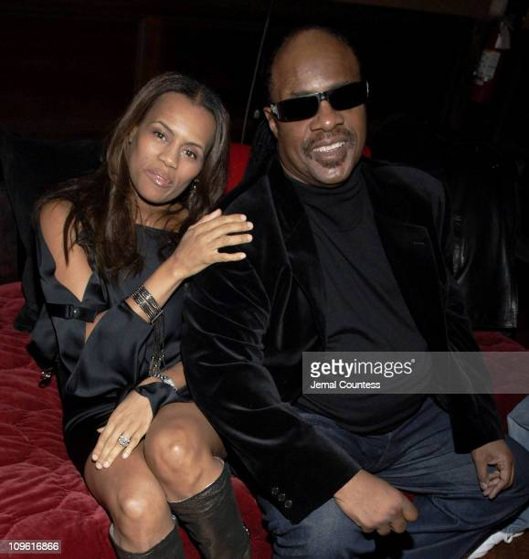Kai Milla and Stevie Wonder during Olympus Fashion Week Fall 2006 Kai Milla After Party at The Prince George Ballroom in New York City New York...