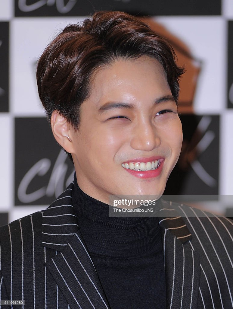 Kai of <a gi-track='captionPersonalityLinkClicked' href=/galleries/search?phrase=EXO+-+Band&family=editorial&specificpeople=9756418 ng-click='$event.stopPropagation()'>EXO</a> attends the drama 'Choco Bank' press conference at Lotte Cinema on February 4, 2016 in Seoul, South Korea.