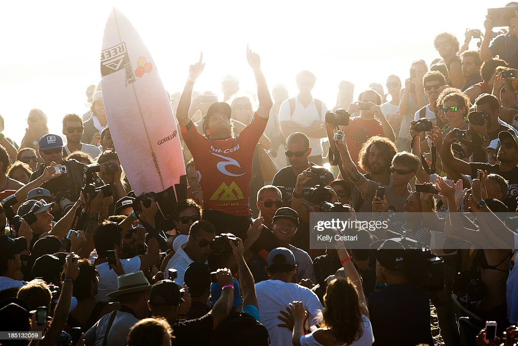 Kai Otton of Australia secured his first ever ASP World Tour victory by winning the RipCurl Pro Portugal on October 17, 2013 in Peniche, Portugal.