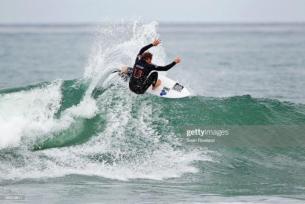 Kai Otton of Australia surfs during round five at The Hurley Pro on September 18, 2013 in San Diego, California.
