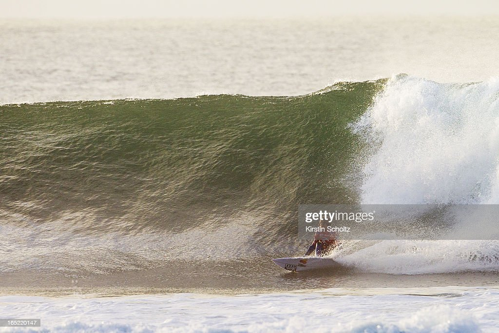 Kai Otton of Australia surfs to an equal fifth place April 2, 2013 in Bells Beach, Australia.