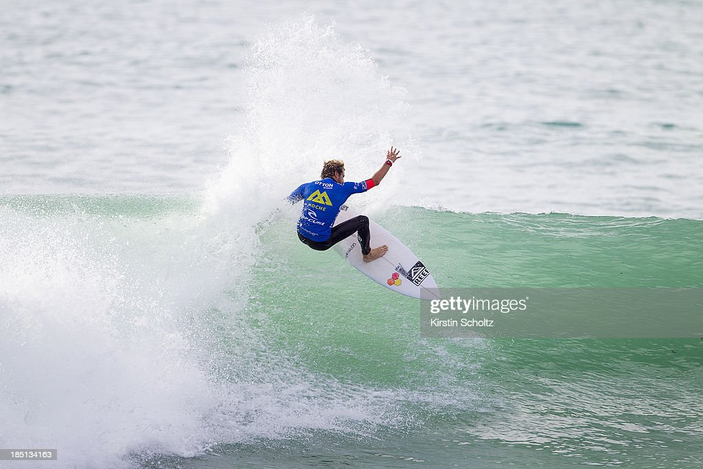 Kai Otton of Australia surfs to victory on October 17, 2013 in Peniche, Portugal.