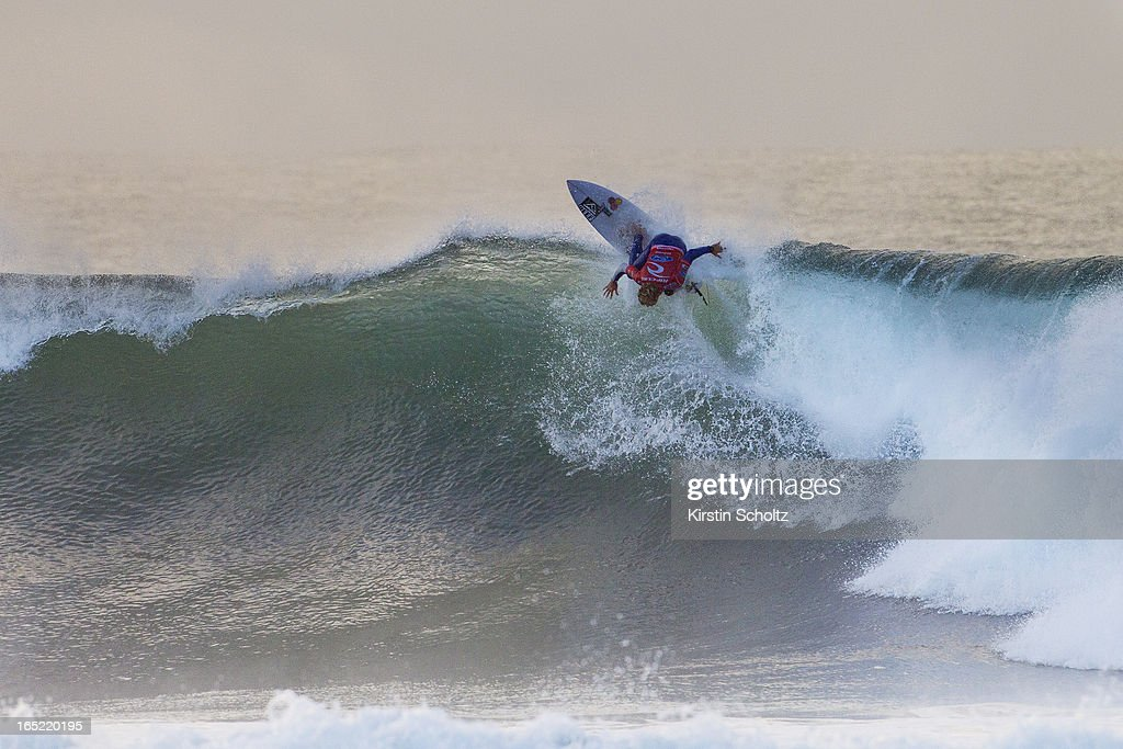 Kai Otton surfs to an equal fifth place April 2, 2013 in Bells Beach, Australia. (Photo by Kirstin Scholtz/ASP via Getty Images))