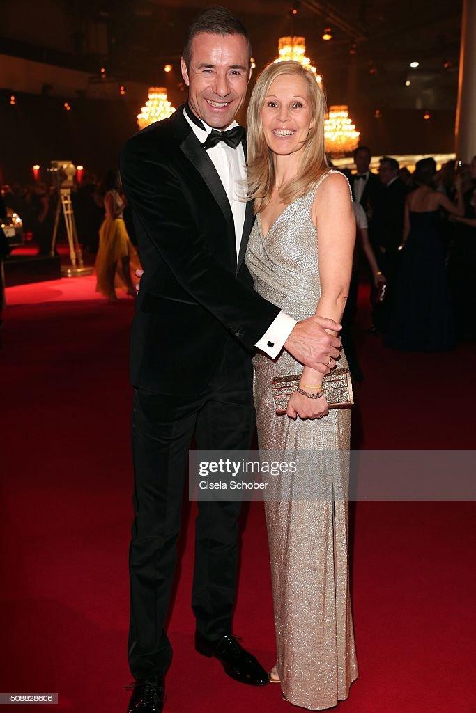 Kai Pflaume and his wife Ilke Pflaume during the Goldene Kamera 2016 reception on February 6 2016 in Hamburg Germany