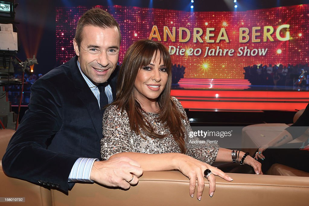 Kai Pflaume and Simone Thomalla attend the Andrea Berg 'Die 20 Jahre Show' at Baden Arena on December 7, 2012 in Offenburg, Germany.