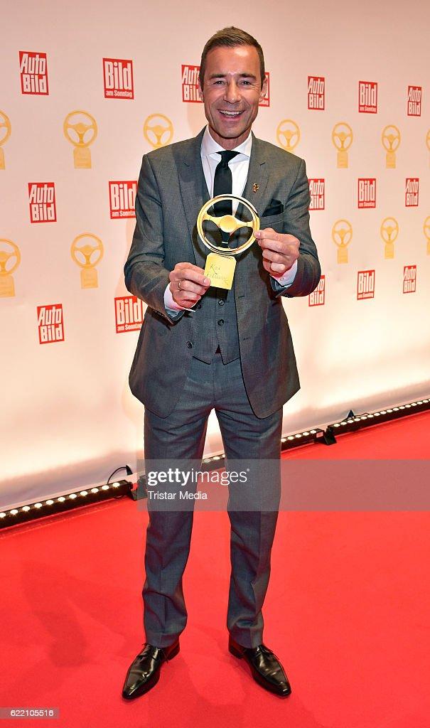 Kai Pflaume attend the 'Goldenes Lenkrad' Award at Axel Springer Haus on November 8, 2016 in Berlin, Germany.