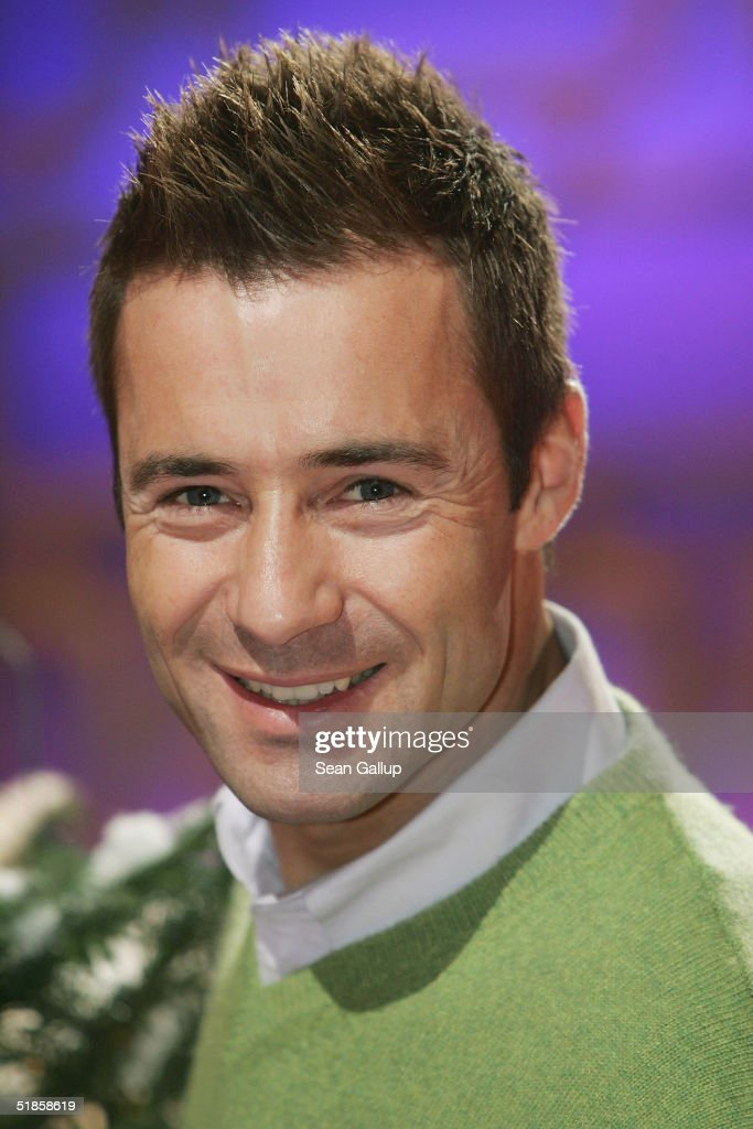 Kai Pflaume attends a photocall on the set of his new TV show 'Stars am Limit' at SAT1 studios on December 14 2004 in Berlin Germany