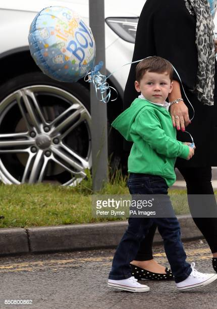 Kai Rooney arrives at Liverpool Women's Hospital to visit his mother Coleen who gave birth to Klay Anthony Rooney at 211am