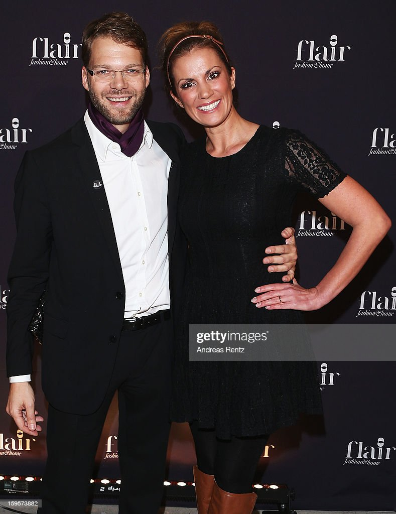 Kai Rose and Kerstin Linnartz attend Flair Magazine Party at Pariser Platz 4 on January 15, 2013 in Berlin, Germany.