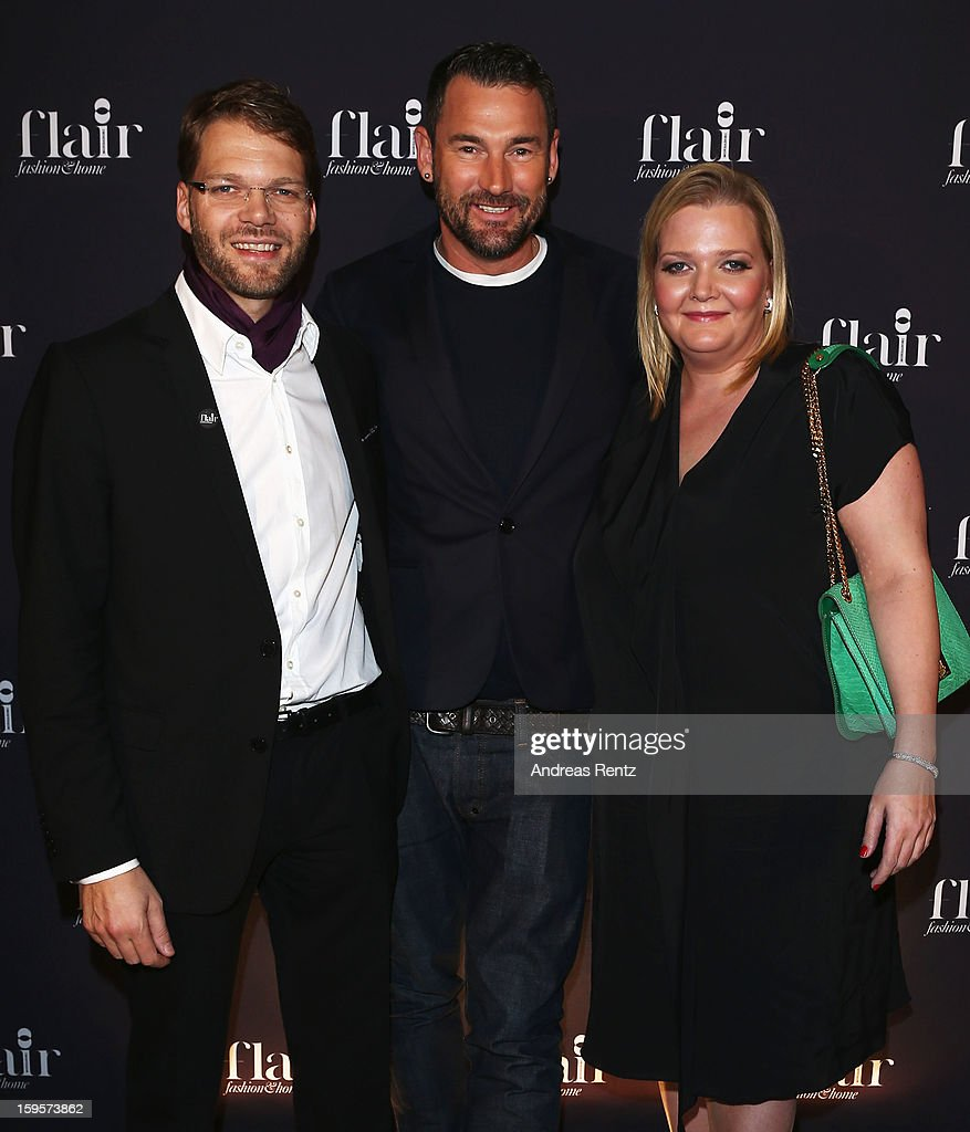 Kai Rose, Michael Michalsky and Ingrid Rose attend Flair Magazine Party at Pariser Platz 4 on January 15, 2013 in Berlin, Germany.