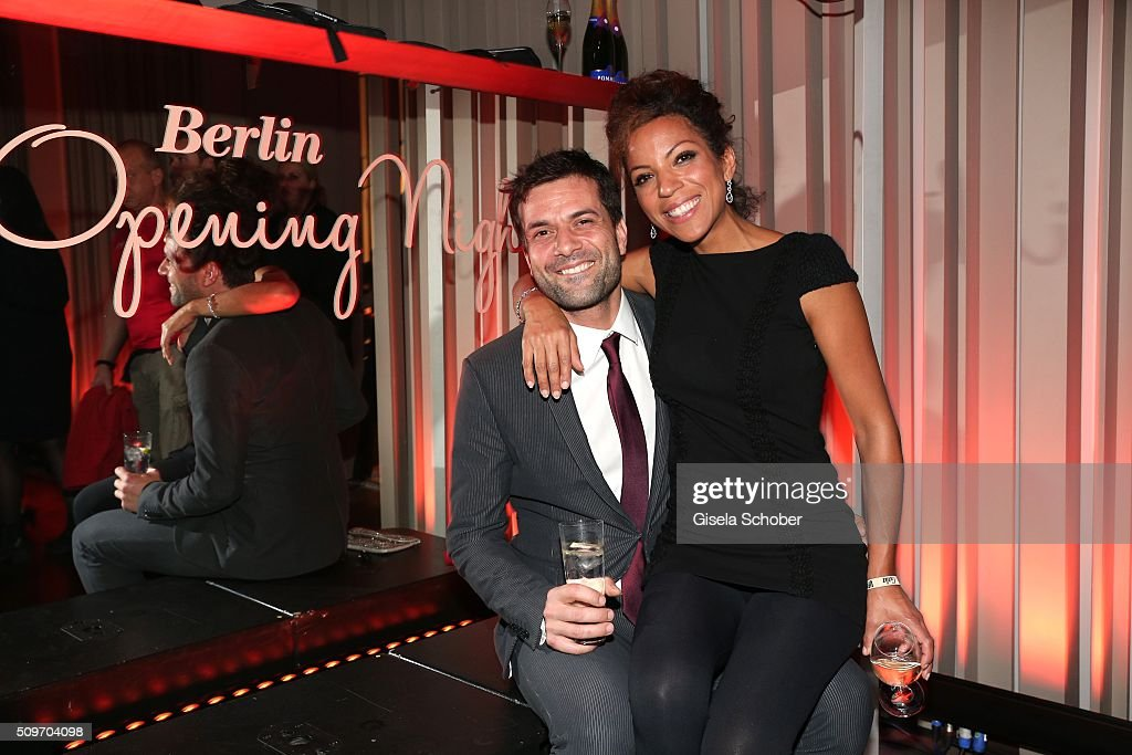 Kai Schumann and his girlfriend Marva Schreiber during the 'Berlin Opening Night of GALA & UFA Fiction' at Das Stue Hotel on February 11, 2016 in Berlin, Germany.