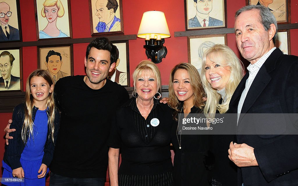 Kai Trump, Zak Resnick, <a gi-track='captionPersonalityLinkClicked' href=/galleries/search?phrase=Ivana+Trump&family=editorial&specificpeople=159374 ng-click='$event.stopPropagation()'>Ivana Trump</a>, Laurie Veldheer, Bonnie Hayden and Christian Curato attend the 5,000 performance celebration of 'Mamma Mia!' on Broadway at Sardi's on November 9, 2013 in New York City.