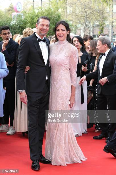 Kai Wiesinger and his girlfriend Bettina Zimmermann during the Lola German Film Award red carpet arrivals at Messe Berlin on April 28 2017 in Berlin...