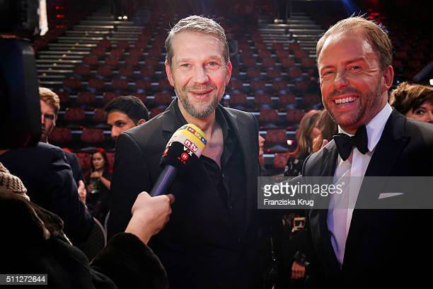 Kai Wiesinger and Stefan Kiwit attend the 99FireFilmAward 2016 at Admiralspalast on February 18 2016 in Berlin Germany