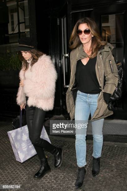 Kaia Gerber and Cindy Crawford are seen on February 15 2017 in New York City