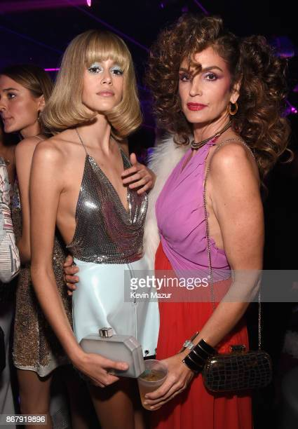 Kaia Gerber and Cindy Crawford attend Casamigos Halloween Party on October 27 2017 in Los Angeles California