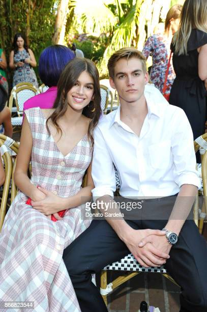Kaia Gerber and Presley Gerber attend CFDA/Vogue Fashion Fund Show and Tea at Chateau Marmont at Chateau Marmont on October 25 2017 in Los Angeles...
