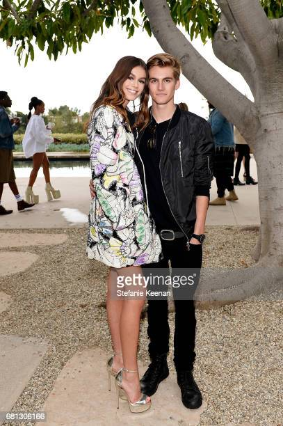 Kaia Gerber and Presley Walker Gerber attend Marc Jacobs Fragrances and Kaia Gerber Celebrate DAISY on May 9 2017 in Beverly Hills California