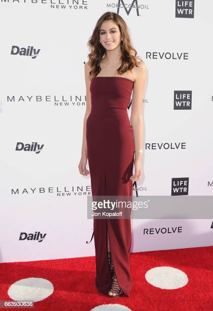 Kaia Gerber arrives at the Daily Front Row's 3rd Annual Fashion Los Angeles Awards at the Sunset Tower Hotel on April 2 2017 in West Hollywood...