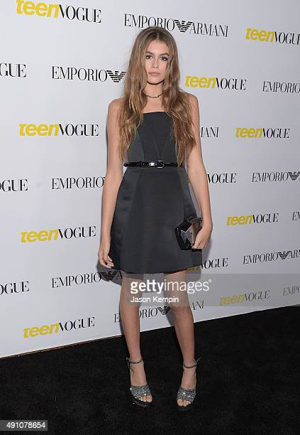 Kaia Gerber attends Teen Vogue's 13th Annual Young Hollywood Issue Launch Party on October 2 2015 in Los Angeles California