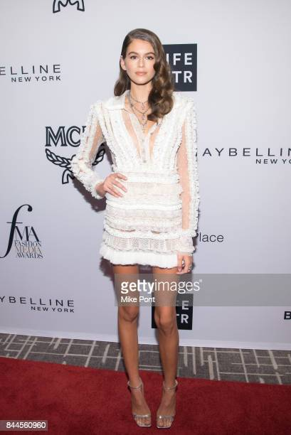 Kaia Gerber attends the Daily Front Row's Fashion Media Awards at Four Seasons Hotel New York Downtown on September 8 2017 in New York City