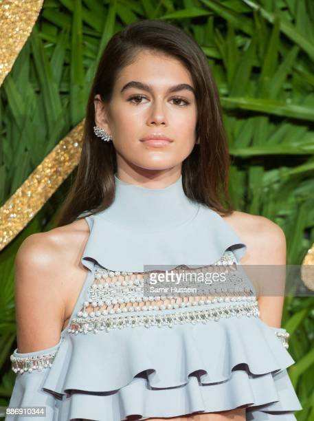 Kaia Gerber attends The Fashion Awards 2017 in partnership with Swarovski at Royal Albert Hall on December 4 2017 in London England