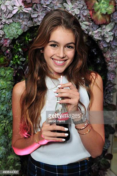 Kaia Gerber attends the Launch Party for WILDFOX Loves CocaCola Capsule Collection on October 22 2015 in West Hollywood California