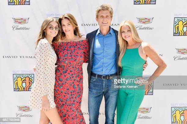 Kaia Gerber Cindy Crawford Anthony Shriver and Nancy O'Dell attend Cindy Crawford and Kaia Gerber host Best Buddies Mother's Day Brunch in Malibu CA...