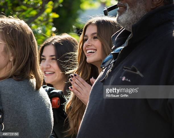 Kaia Gerber is seen at 'Extra' on November 04 2015 in Los Angeles California