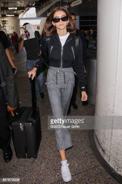 Kaia Gerber is seen on October 04 2017 in Los Angeles California