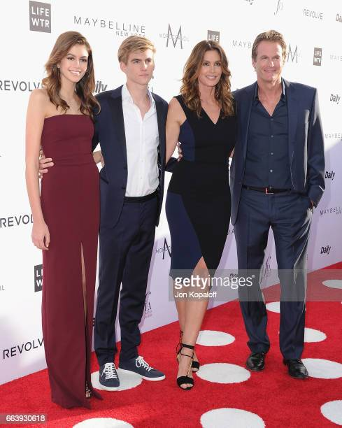 Kaia Gerber Presley Gerber Cindy Crawford and Rande Gerber arrive at the Daily Front Row's 3rd Annual Fashion Los Angeles Awards at the Sunset Tower...