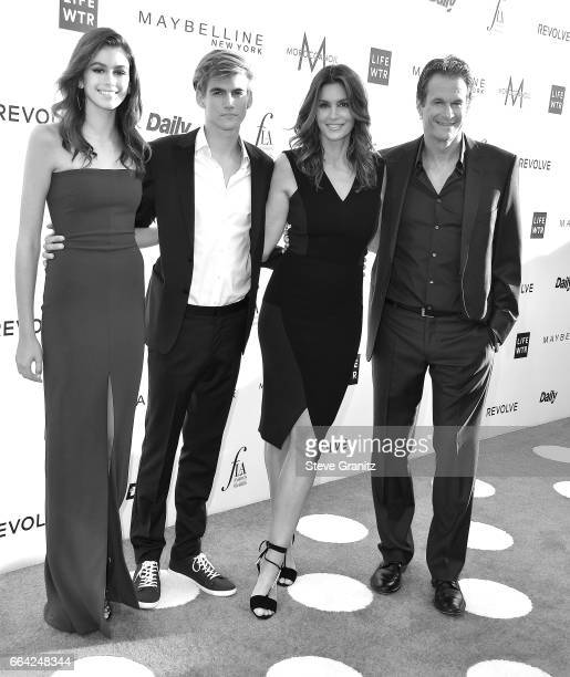 Kaia Gerber Presley Gerber Cindy Crawford and Rande Gerber arrives at the Daily Front Row's 3rd Annual Fashion Los Angeles Awards on April 2 2017 in...