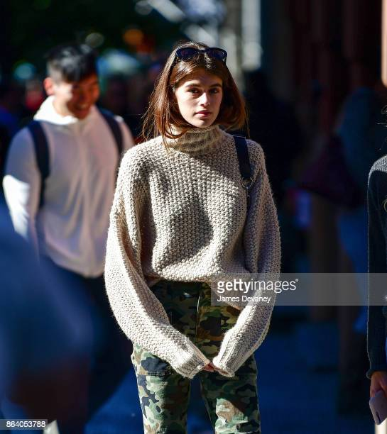 Kaia Gerber seen on the streets of Manhattan on October 20 2017 in New York City