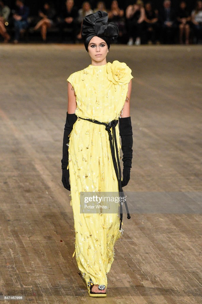 Kaia Gerber walks the runway at Marc Jacobs Show during New York Fashion Week: The Shows at Park Avenue Armory on September 13, 2017 in New York City.