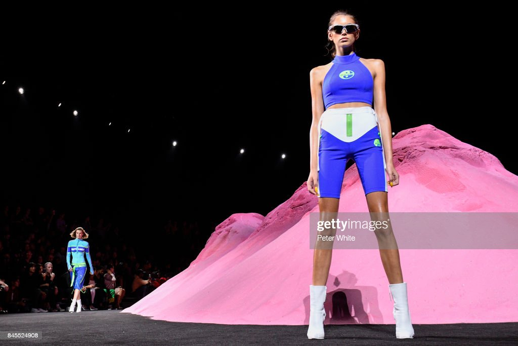 Kaia Gerber walks the runway at the Fenty Puma By Rihanna fashion show during New York fashion week at Park Avenue Armory on September 10, 2017 in New York City.