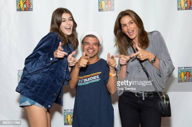 Kaia Jordan Gerber and Cindy Crawford attend Bowling For Buddies at PINZ Bowling Entertainment Center on December 10 2017 in Studio City California