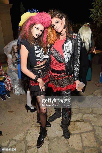 Kaia Jordan Gerber and model Cindy Crawford attend the Casamigos Halloween Party at a private residence on October 28 2016 in Beverly Hills California