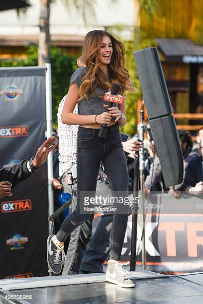 Kaia Jordan Gerber visits 'Extra' at Universal Studios Hollywood on November 4 2015 in Universal City California