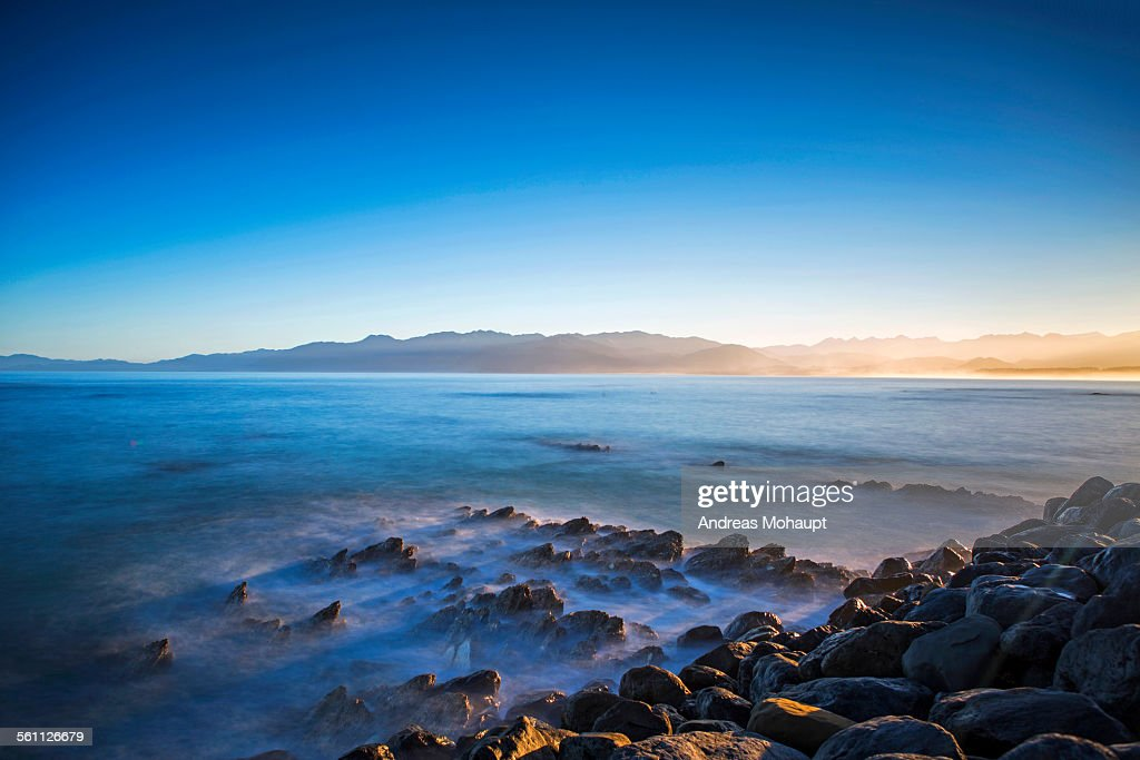 Kaikoura coastline at dusk