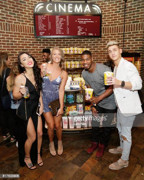 Kailah Casillas Jenna Compono Leroy Garrett and Shane Raines attend The Challenge XXX Ultimate Fan Experience Q A and Reception at The Roxy Hotel on...