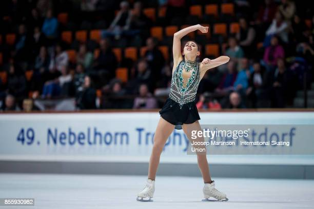 Kailani Craine of Australia competes in the Ladies Free Skating during the Nebelhorn Trophy 2017 at Eissportzentrum on September 30 2017 in...