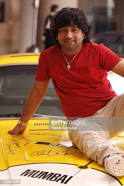 ACCESS *** Kailash Kher from India poses during a recording of the song 'Citizen of the World' at Capitol Studio on February 26 2010 in Los Angeles...