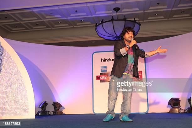 Kailash Kher performing at HT City Crystal Awards being held at Maurya Sheraton Hotel on October 29 2010 in New Delhi India