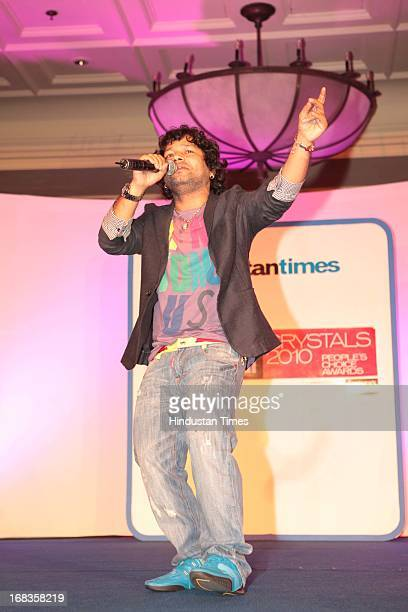 Kailash Kher performing HT City Crystal Awards being held at Maurya Sheraton Hotel on October 29 2010 in New Delhi India