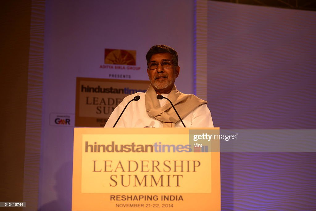 Kailash Satyarthi - Indian children's rights advocate and an activist against child labour and Nobel Peace prize laureate speaking at HT leadership Summit on November 21, 2014 in New Delhi, India.