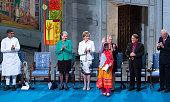 Kailash Satyarthi Kaci Kullmann of Norway IngerMarie Ytterhorn of Norway Malala Yousafzai Berit ReissAndersen of Norway Gunnar Stalsett of Norway and...