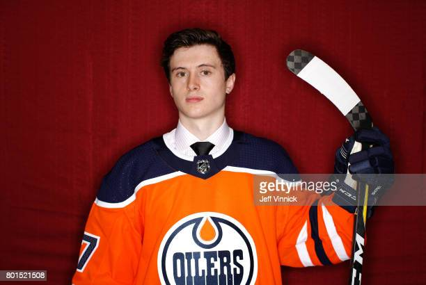 Kailer Yamamoto 22nd overall pick of the Edmonton Oilers poses for a portrait during Round One of the 2017 NHL Draft at United Center on June 23 2017...