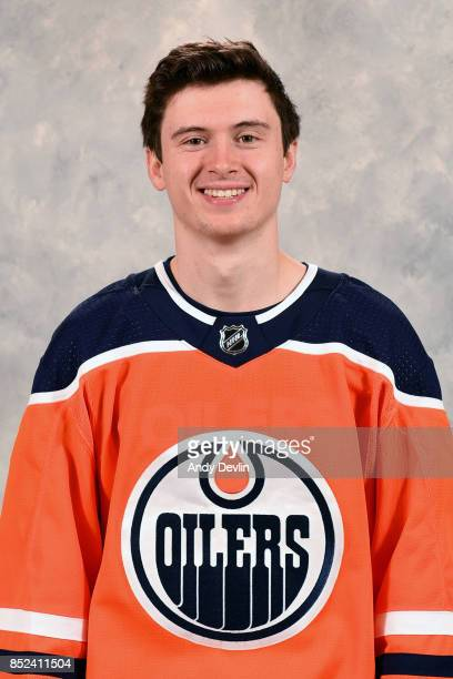 Kailer Yamamoto of the Edmonton Oilers poses for his official headshot for the 20172018 season on September 7 2017 at Rogers Place in Edmonton...