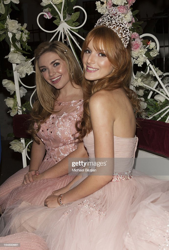 Kailey Swanson and Bella Thorne attend Hallmark Gold Crown And Text Bands Celebrates Bella Thorne's Quinceanera in honor of her 15th Birthday on October 20, 2012 in Los Angeles, California.