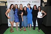 Kaily Smith Westbrook Krista Smith Jennifer Salke Grace Wu Lauren Ash Tracey Pakosta and Randi Kleiner arrive prior to the 'New Voices in Prime Time...
